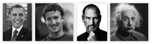 Obama, Zuckerberg, Jobs, Einstein - freedom vs. structure